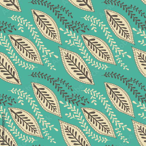 Seamless Pattern With Hand Drawn Elements Henna Style Background