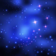 Star space. Vector illustration .