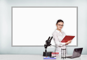 woman medical or scientific researcher in laboratory