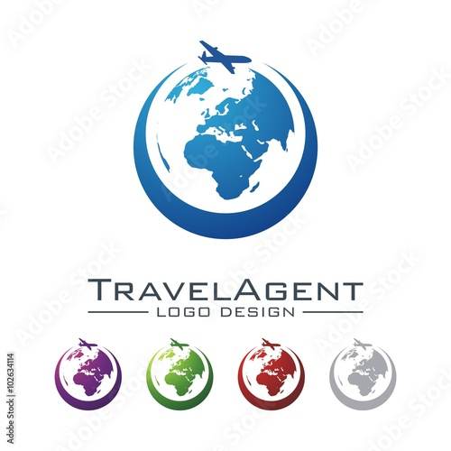 Travel And Tour Logo Plane Circle Design Vector Stock Image Royalty Free Files On Fotolia