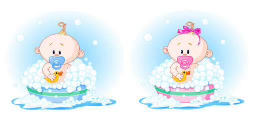 Babies in Bath