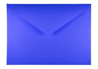 Blank envelope - blue