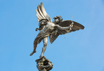 Eros Statue at Piccadilly Circus, London, UK
