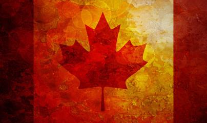 Canada Flag Grunge Background Illustration