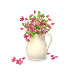 Spring Flowers in Jug