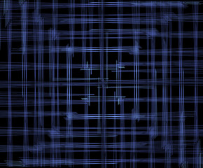 background of blue stripes, which are arranged so that the eye image is focused at the center