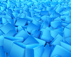 Futuristic abstract background made of blue cubes