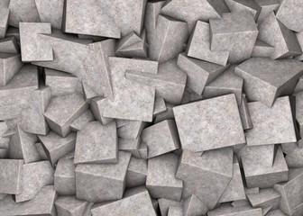 Fototapeta Abstract background broken concrete cubes obraz