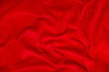 Abstract background of red silk