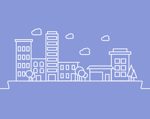 City background, urban landscape. Vector
