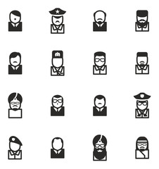 Avatar Icons Dictators Scientists