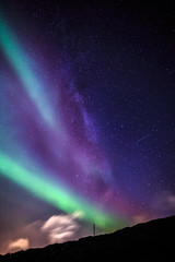 Northern lights over Nuuk city, October 2015, Greenland