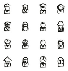 Avatar Icons Set 3 Freehand