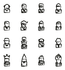 Avatar Icons Set 4 Freehand