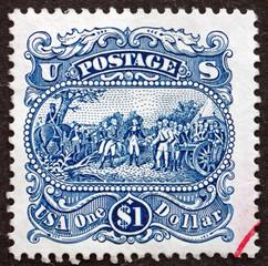 Postage stamp USA 1994 Surrender of General Burgoyne by Trumbull