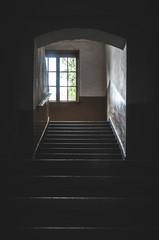 Dark vintage corridor