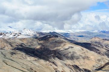 Beautiful mountains on Leh - Manali highway near to Pang village