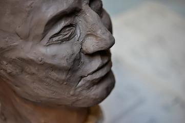 buste sculpture argile