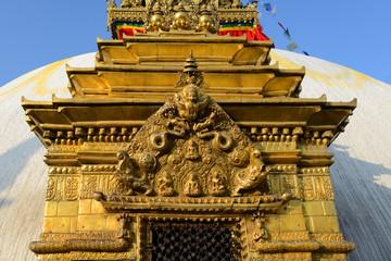 Detail des Tempelanlage Swayambhunath, Kathmandu / Nepal