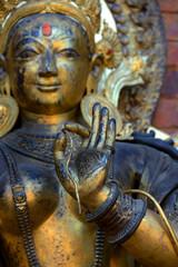 Statue einer Göttin, Mul Chowk im Königlichen Palast in Bhaktapur / Kathmandu, Nepal