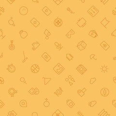 Seamless background pattern for leisure and travel