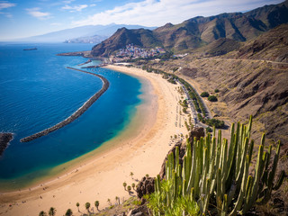Las Teresitas beach near San Andres, Tenerife, Canary Islands, Spain