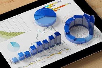 Auswertung von Diagramm auf Tablet Computer