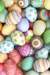 Bunte Ostereier zu Ostern