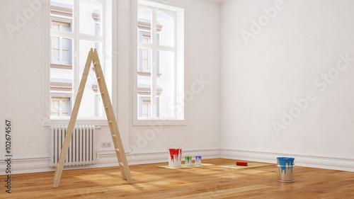 renovierung vor umzug in wohnung stockfotos und. Black Bedroom Furniture Sets. Home Design Ideas