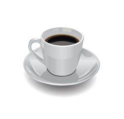Coffee cup on a white background