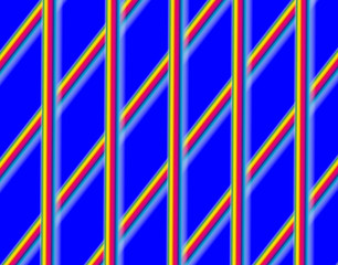 Абстрактный синий фон с яркими полосами.