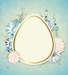 Vintage vector Easter card