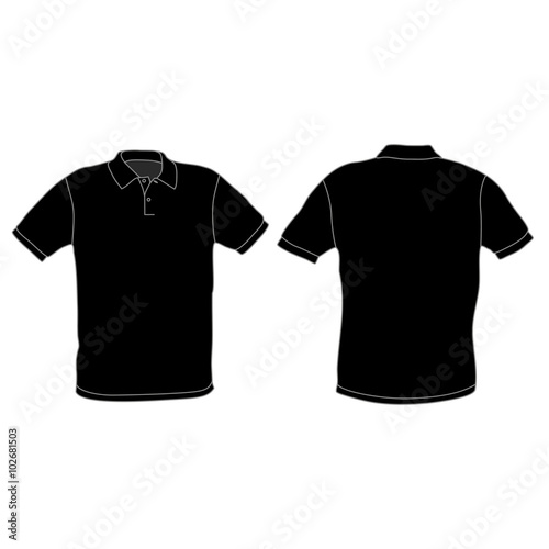 Polo Shirt Template Vector Illustration Stock Image And Royalty