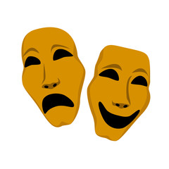Two theater mask - sadness and laughing