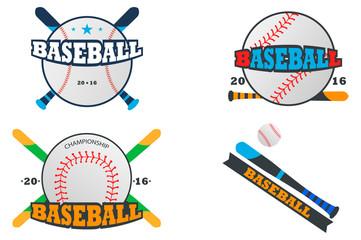 baseball logo. set of vector emblems.