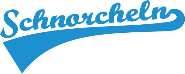 Snorkeling german word retro