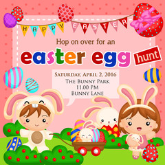 Happy easter invitation
