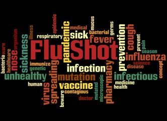 Flu Shot, word cloud concept 5