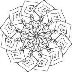 Coloring pictures mandalas for adults