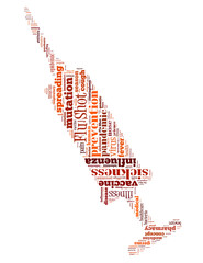 Flu Shot injection, word cloud concept 3