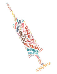 Flu Shot injection, word cloud concept 4