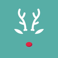 Rudolph Reindeer with red nose template