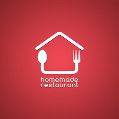 homemade house food logo template