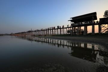 Die U-Bein Brücke in Myanmar