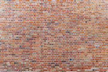 Large background of old vintage brick wall