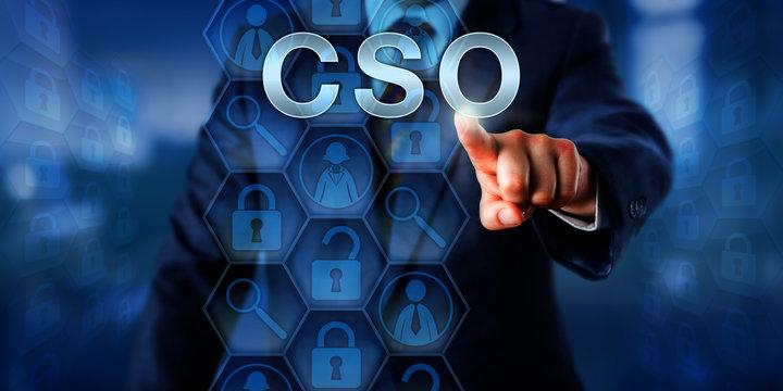 C-Level Corporate Executive Pressing CSO