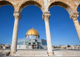 Jerusalem - Dom of Rock on the Temple Mount in the Old City.