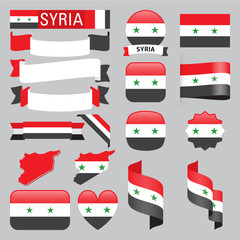 syria flags
