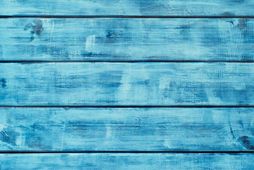 Wooden blue horizontal boards