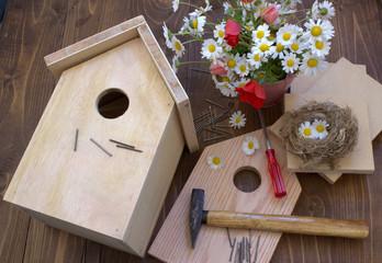 Manufacturing birdhouse.